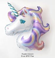 Unicorn Horse Purple 108x78cm