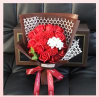 Flower Set With Box 38*20*12cm - Red