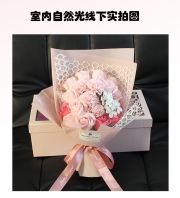 Flower Set With Box 38*20*12cm - Pink