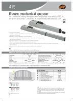 FAAC 415 Arm Autogate