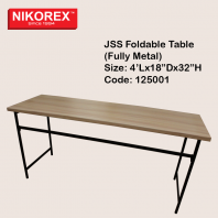 125001  - JSS Foldable Table  (Fully Metal)