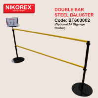 BT603002 - Double Bar Steel Baluster