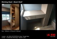 Custom Made Working Desk and Book Shelf or Display Cabinet