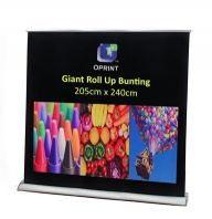 Giant Roll Up Bunting - 240cm (W) X 205cm (H)