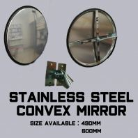 Stainless steel convex mirror