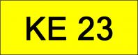 Superb Classic Number Plate (KE23)