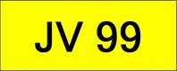 Number Plate JV99