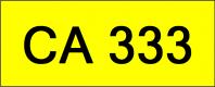 Number Plate CA333