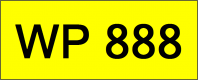 Superb Classic Number Plate (WP888)