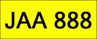 VIP Nice Number Plate (JAA888)