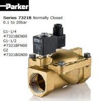 PARKER SOLENOID VALVE BRASS G1-1/2 #7321BFN00 (P/N.443794W)