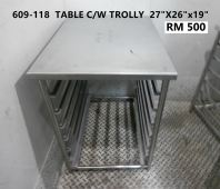 609-118 TABLE C/W TROLLY RM550