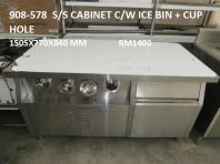 USED : 908-578 (S/S CABINET C/W ICE BIN & CUP HOLE)