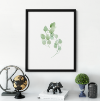 Watercolour Green Leaves
