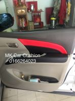 TOYOTA ESTIMA ACR 50 SUPER LEATHER SEAT COVER & DOOR PANEL, CPS DESIGN BLACK & RED, 3 YEARS WARRANTY