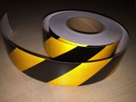 Black & Yellow Reflective Hazard Stripes