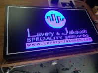 3D LETTERING ACRYLIC LED LIGHT BOARD