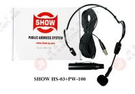 SHOW HEADSET MICROPHONE HS-03+PW-100
