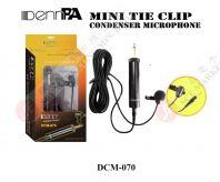 MINI TIE CLIP CONDENSER MICROPHONE DENN DCM-070