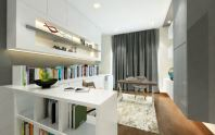 the luxury of a whole room for their home office, many of the workspaces in this slideshow have been mixed into a family hall.