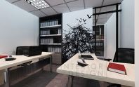 Account room with special design wallpaper.