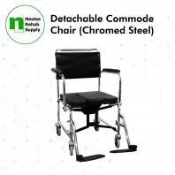 NL692 Shower Commode Chair with Castors (Non-Foldable)