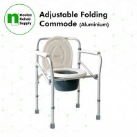 NL692 Commode Chair with Castors (Powder Coated Steel) - Detachable