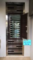 Steel With Aluminium Safety Door