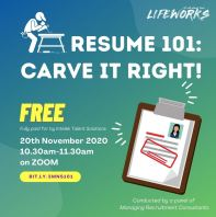 Resume 101 - Carve it Right!
