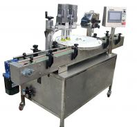 Automatic vape e-cigarette juice filling and capping machine
