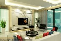 Tv Marble Wall Design