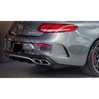 W205 Coupe Rear Diffuser C63 Look