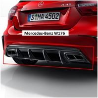 W176 A45 Facelift Look Rear Diffuser