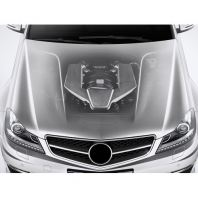 W204 C63 Front Hood Wide Body Steel