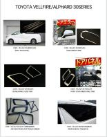 Toyota vellfire/alphard ANH30 series chrome product