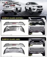 Toyota Fortuner Front and Rear Bumper Guard