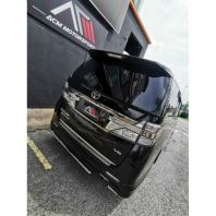 vellfire anh20 trunk lid spoiler Gred A quality bodykit