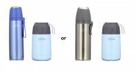 THERMOS Vacuum Insulated Stainless Steel Flask 1L + Food Jar 0.65L