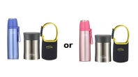 THERMOS Vacuum Insulated Stainless Steel Flask 500ml + Food Jar 450ml