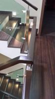Wood handrail Glass Staircase 4