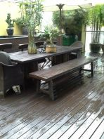 Chengal Decking with Walnut Coating