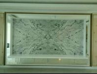 TV wall clading-Arabesque white Marble