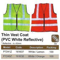 SAFETY VEST - PVC WHITE REFLECTIVE (SW-SV02)