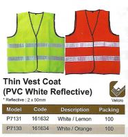 SAFETY VEST - PVC WHITE REFLECTIVE (SW-SV04)