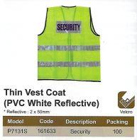 SECURITY SAFETY VEST - PVC WHITE REFLECTIVE (SW-SV05)
