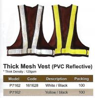 SAFETY VEST - BLACK WITH WHITE / YELLOW REFLECTIVE (SW-SV08))