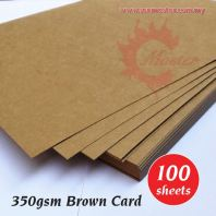 350gsm Brown Card (100s)