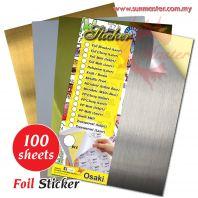 A4 Silver Matt Sticker (Inkjet)