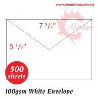 """7 3/4"""" x 5 1/2"""" White Envelope"""