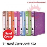 "3"" Color Arch File (24s) - Hard Cover with Index"